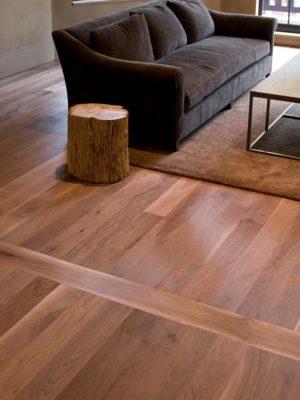 Walnut Plank Living Room