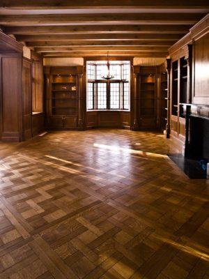 Antique Quartered Oak Weave Pattern
